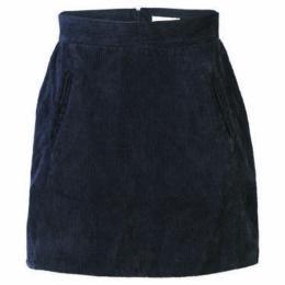 London Rag  Women's Black Corduroy A-Line Mini Skirt  women's Skirt in Black