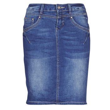 Cream  AMALIE  women's Skirt in Blue