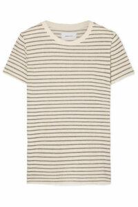 Current/Elliott - The Retro Striped Metallic Cotton-blend Jersey T-shirt - Cream