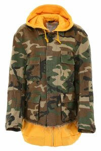 R13 Camouflage Jacket With Hoodie