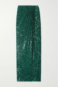 The Row - Beatty Suede Turtleneck Top - Green