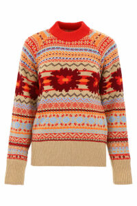 Sacai Jacquard Pull With Cut-out