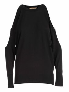 SEMICOUTURE Dolores Cut-out Shoulder Sweater
