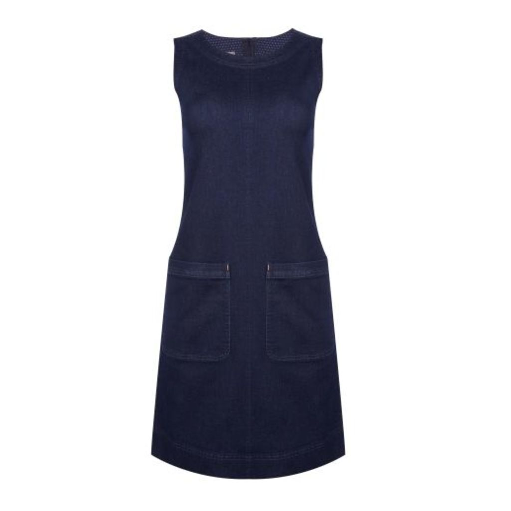 Pocket Front Denim Pinafore