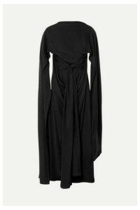 JW Anderson - Draped Cape-effect Crepe De Chine Maxi Dress - Black