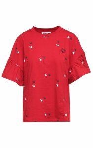 McQ Alexander McQueen Deco Swallow Cotton-jersey Babydoll T-shirt