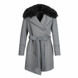 Morgan  GFRAK  women's Coat in Grey