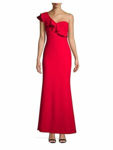 One-Shoulder Floor-Length Gown