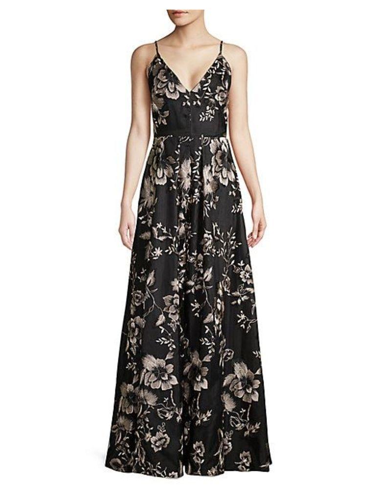 Floral A-Line Gown