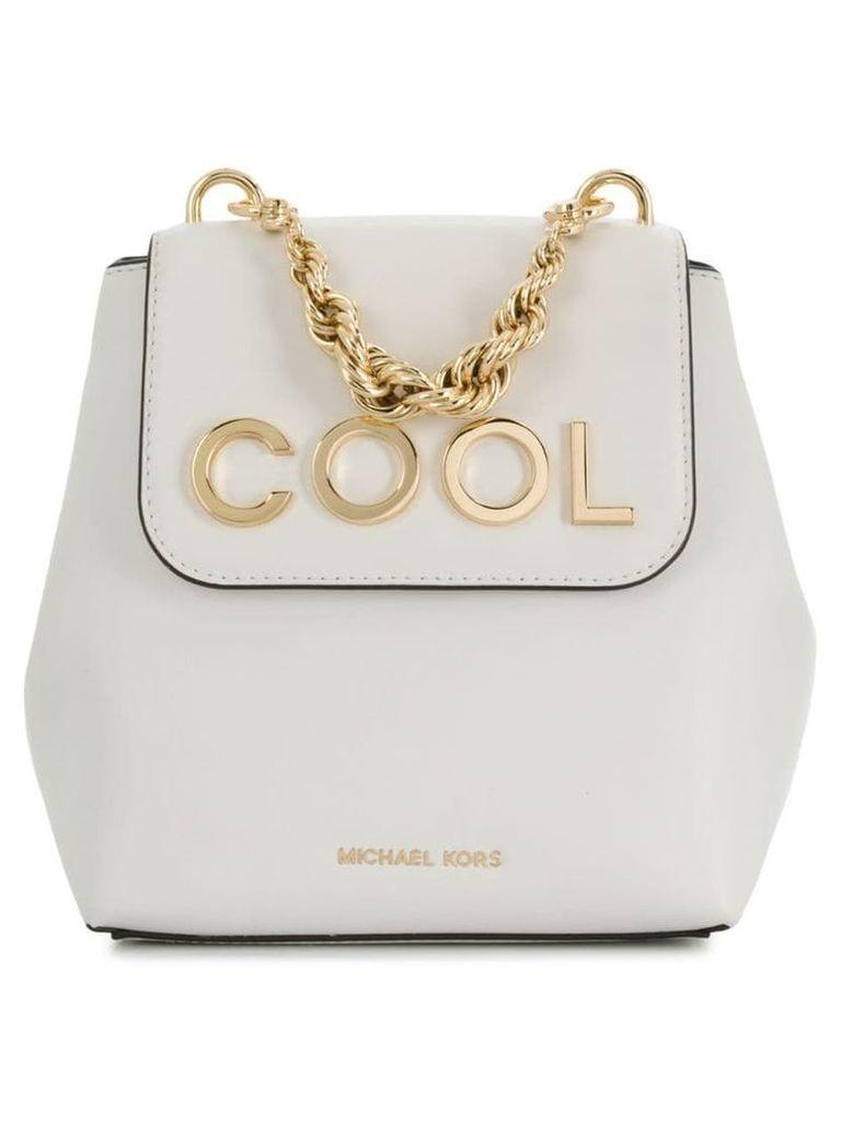 Michael Michael Kors Mott extra-small embellished backpack - White
