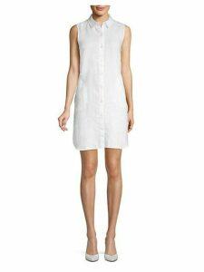 Linen Mini Shirtdress
