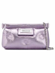Maison Margiela numbers patch padded clutch - Purple