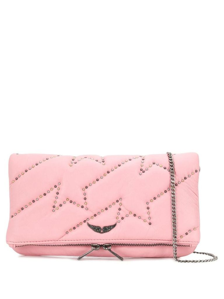 Zadig & Voltaire rock clous studded clutch - Pink