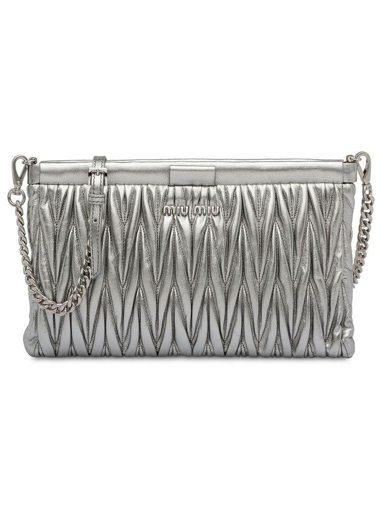 Miu Miu matelassé clutch bag - Silver