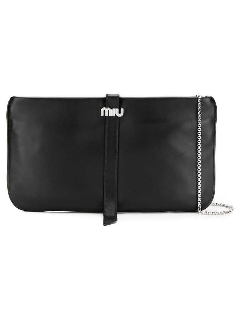 Miu Miu logo clutch bag - Black