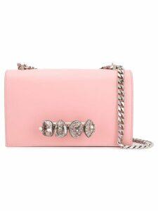 Alexander McQueen knuckle embellished clutch - Pink