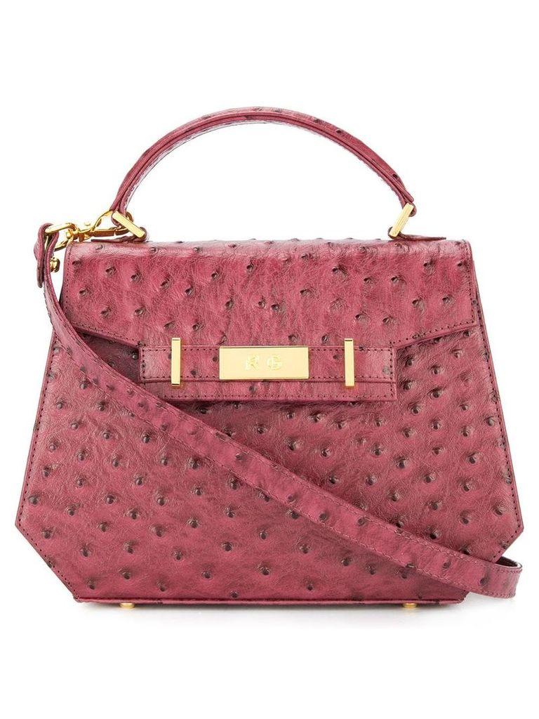 Rula Galayini Lily ostrich mini satchel - Red