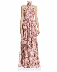 Fame and Partners Zora Pleated Floral Gown