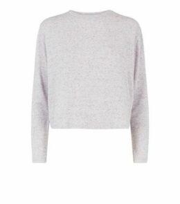 Lilac Lattice Back Fine Knit Top New Look