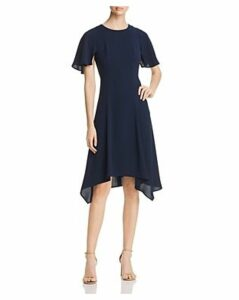 Donna Karan New York Short Flutter Sleeve Dress