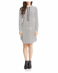 Karen Kane Stripe Hoodie Dress