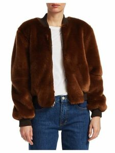 Ellington Faux Fur Bomber Jacket