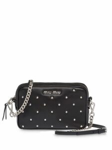 Miu Miu studded camera bag - Black