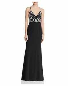 Aidan by Aidan Mattox Embellished Crepe Gown