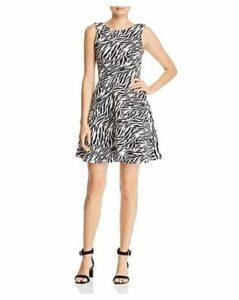 Aqua Zebra Print Fit-and-Flare Dress - 100% Exclusive