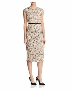 Max Mara Rino Letter-Print Pleated Dress
