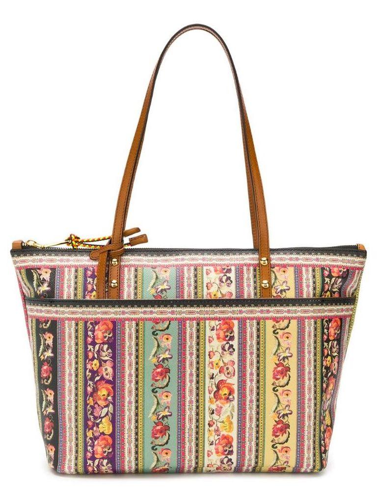 Etro Floral Folk-Print shopper bag - Multicolour