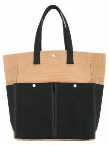 Cabas botanical tote bag - Brown