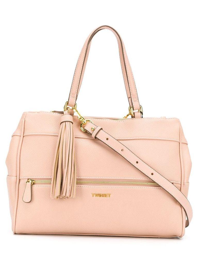 Twin-Set top zipped tote - Pink