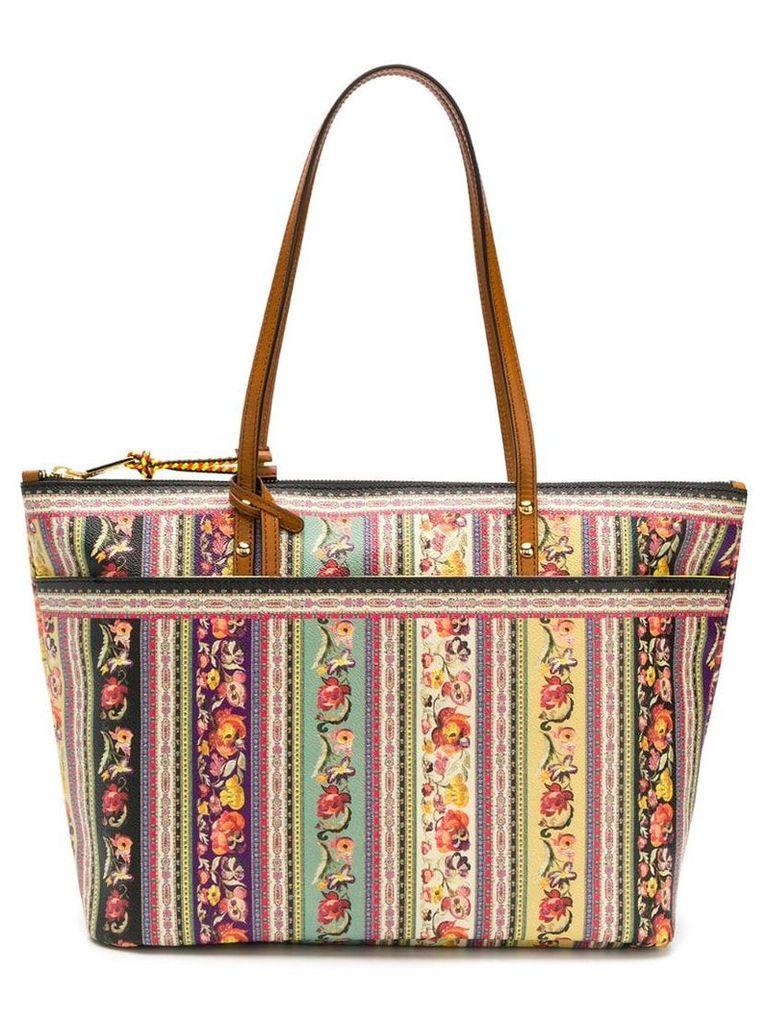 Etro Floral folk-print shopper bag - Brown