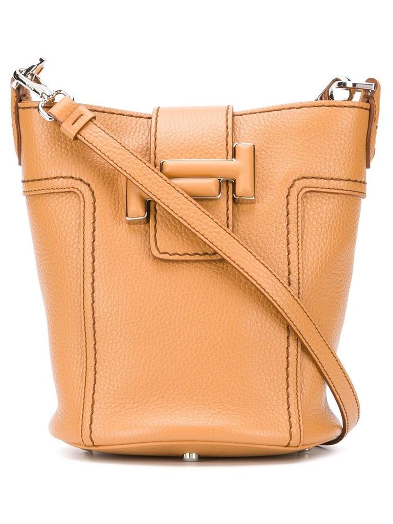 Tod's Double T bucket tote - Brown