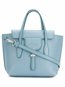 Tod's engraved logo tote - Blue