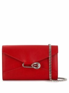 Alexander McQueen crystal pin crossbody bag - Red