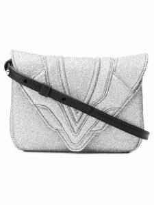 Elena Ghisellini glitter crossbody bag - Metallic