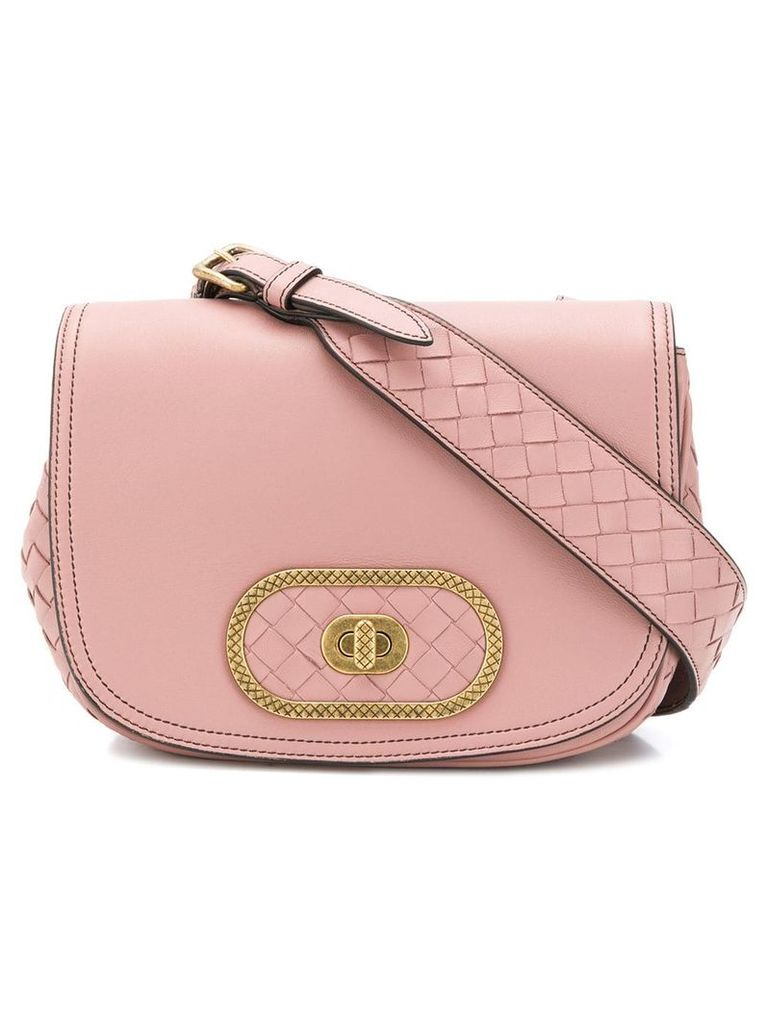 Bottega Veneta crossbody satchel bag - Pink