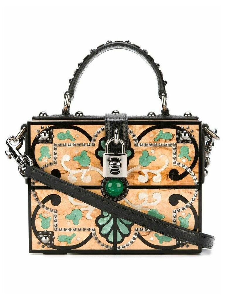 Dolce & Gabbana Vintage structured crossbody bag - Neutrals
