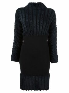 Alaïa Pre-Owned ribbed fitted dress - Black