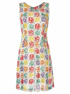 Chanel Pre-Owned Camellia print A-line dress - Multicolour