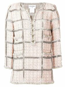 Chanel Pre-Owned tweed longsleeved tunic - Pink