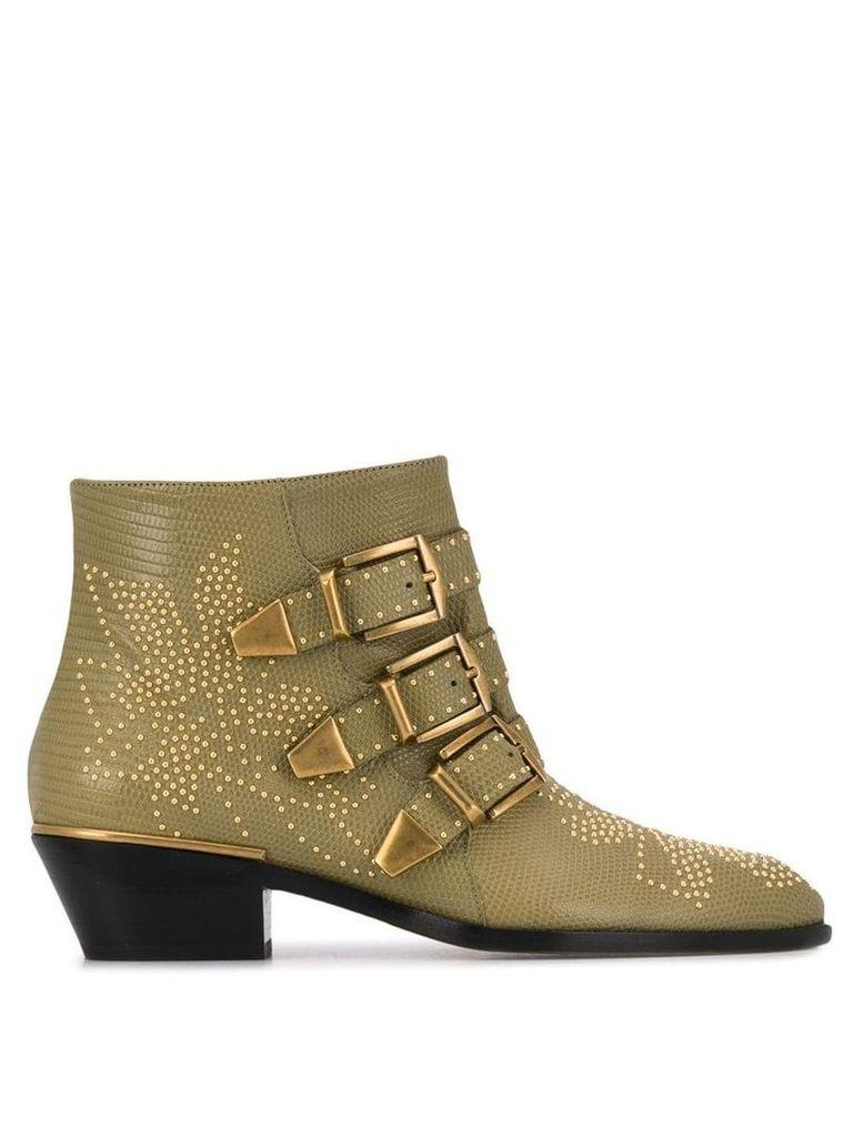 Chloé Susanna studded boots - Brown