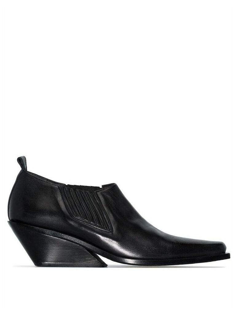 Ann Demeulemeester black 10 cut-off leather boots