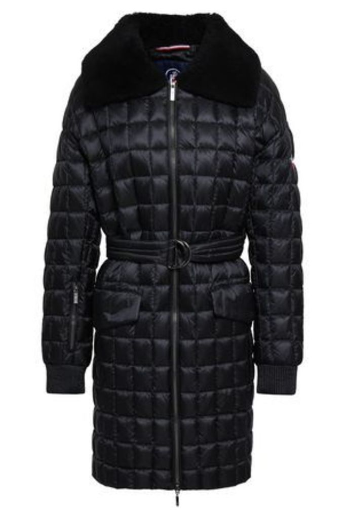 Fusalp Woman Shearling-trimmed Quilted Shell Down Jacket Black Size 44