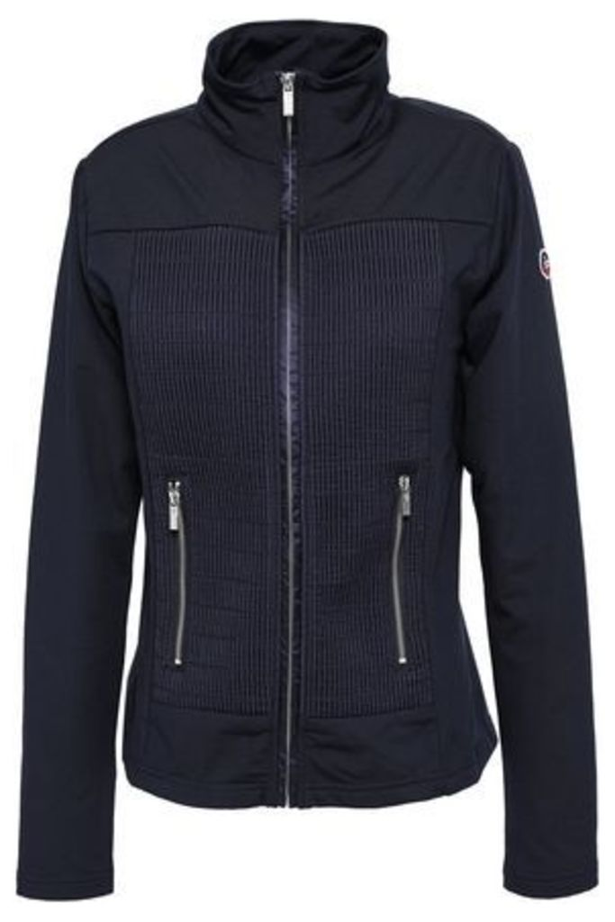 Fusalp Woman Anna Quilted Shell And Stretch-jersey Jacket Navy Size XS