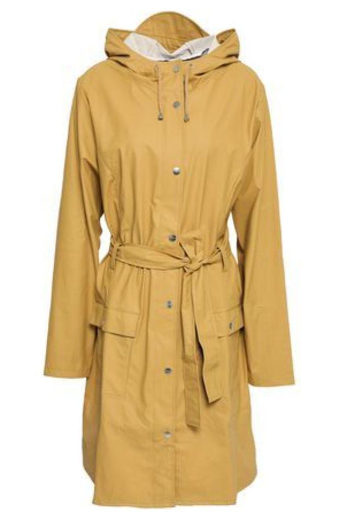 Rains Woman Coated Pvc Hooded Jacket Mustard Size XS/S