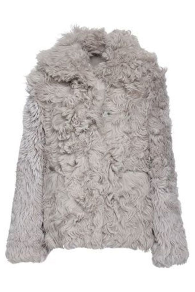 Dom Goor Woman Reversible Shearling Jacket Stone Size 8
