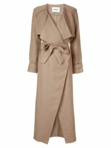 Goen.J frayed edges coat - Brown